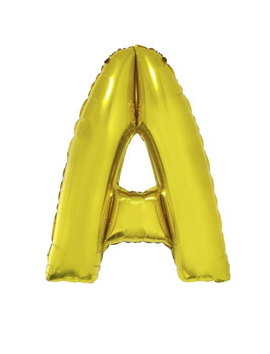Folienballon 102 cm - Buchstaben gold A-Z Buchstabe A