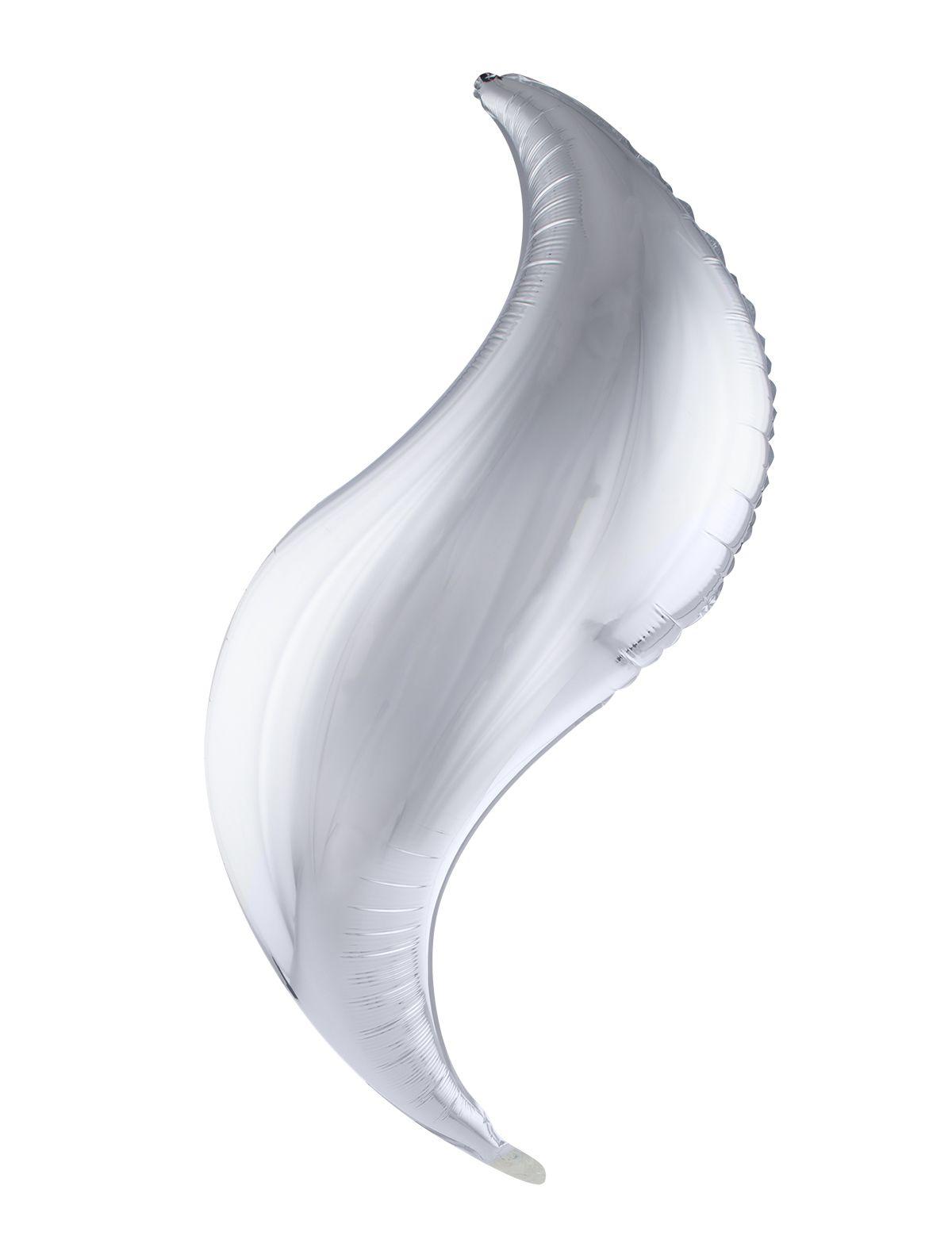 Folienballon 102 cm - S-förmig silber