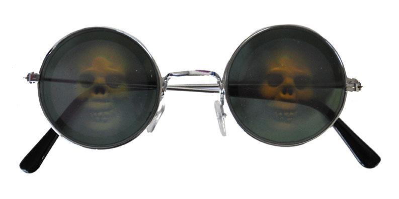 Brille Hologramm Totenkopf