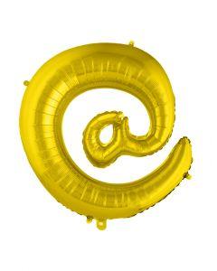 """Folienballon 102 cm - Zeichen """"@"""" gold"""