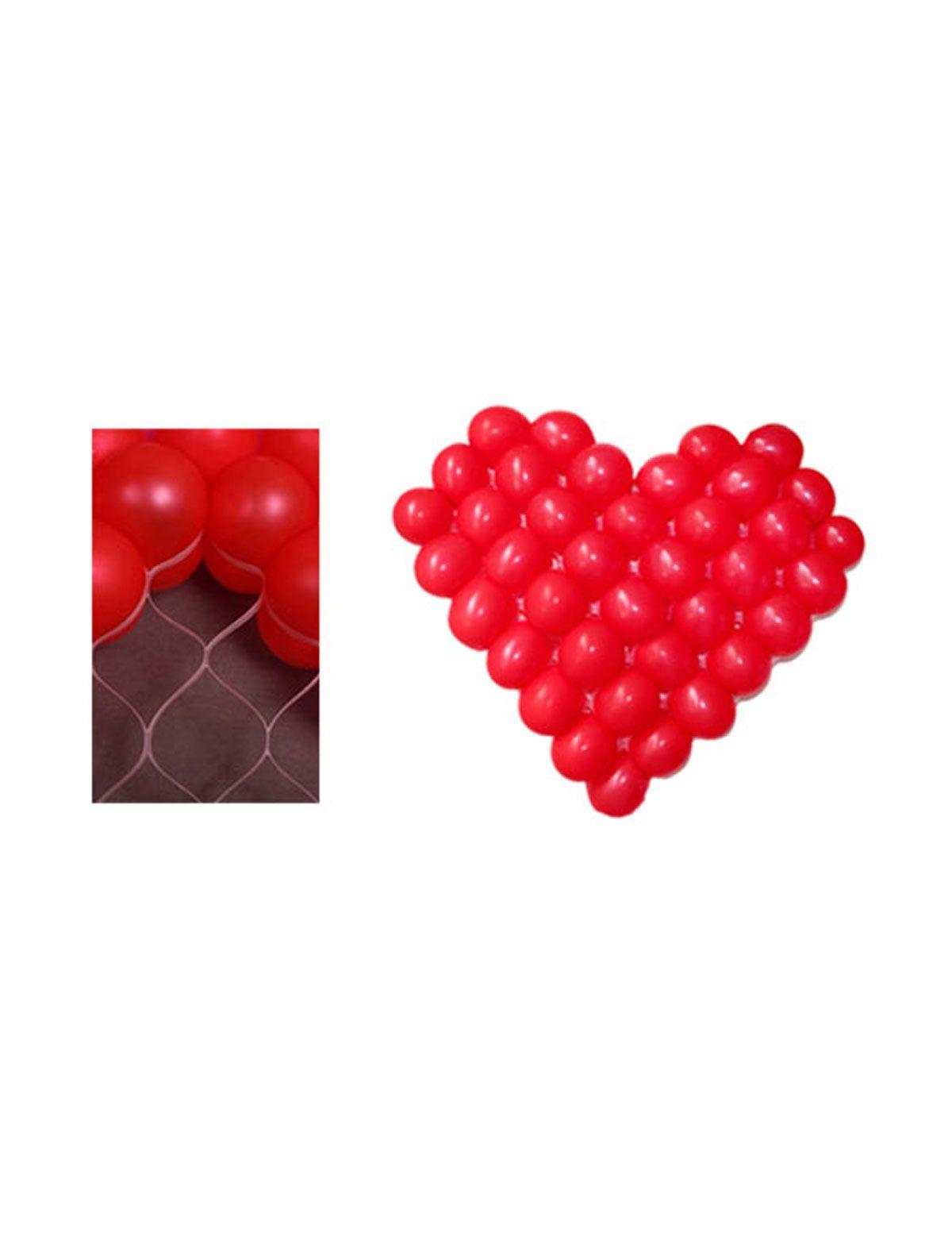Ballongitter Herzform mit 38 roten Ballons 5