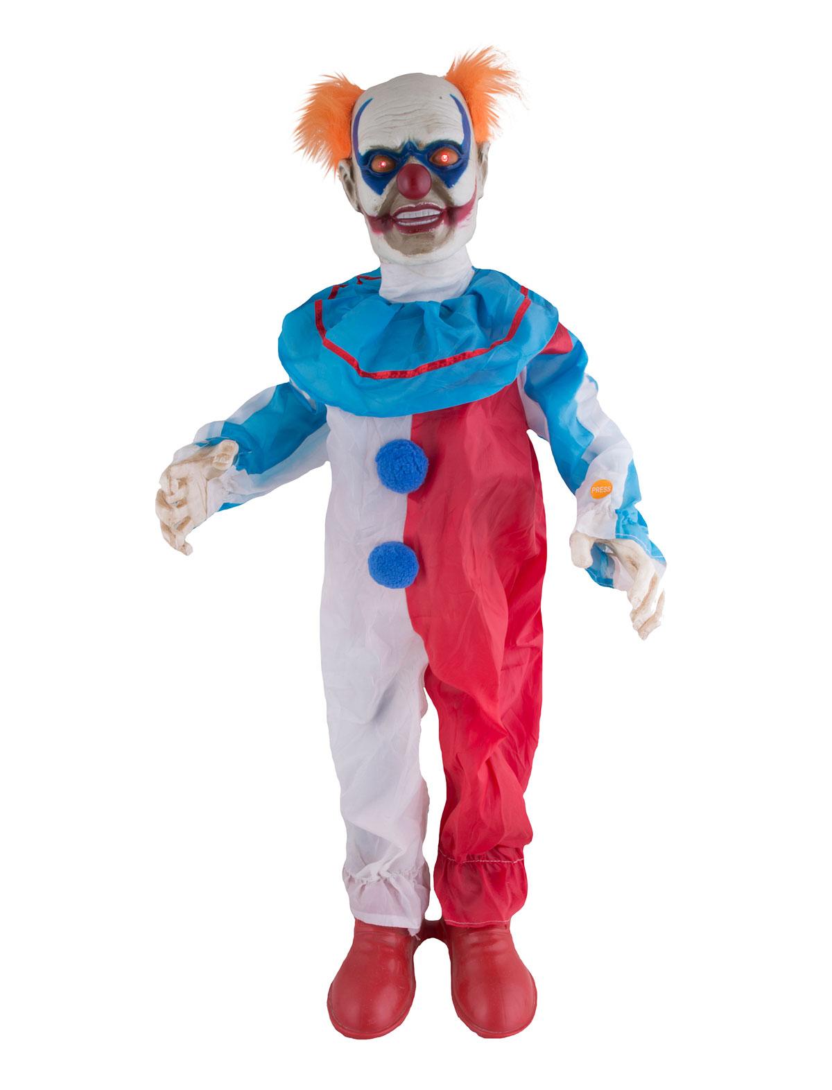 Halloween Clownpuppe mit Sound, Licht und Bewegung