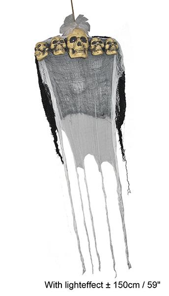 Hängefigur mit 5 Totenköpfen