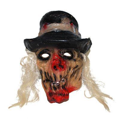 Horror Maske mit Hut