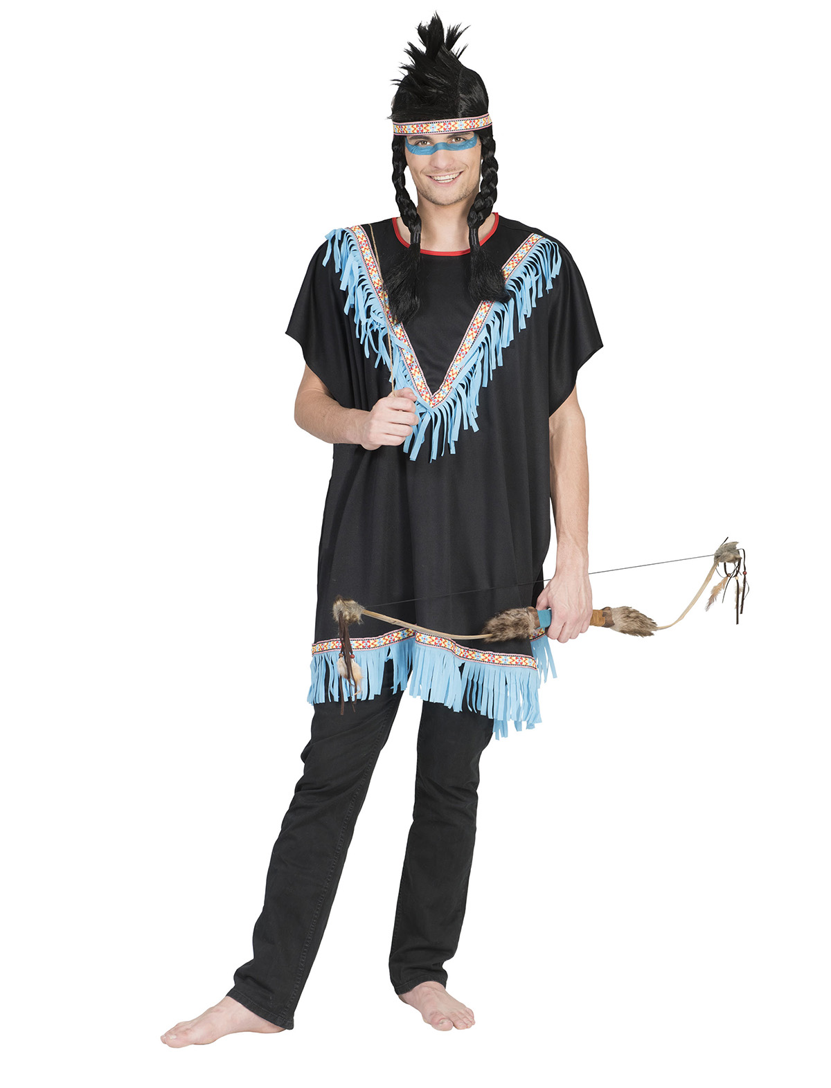 Indianer Poncho Kajika