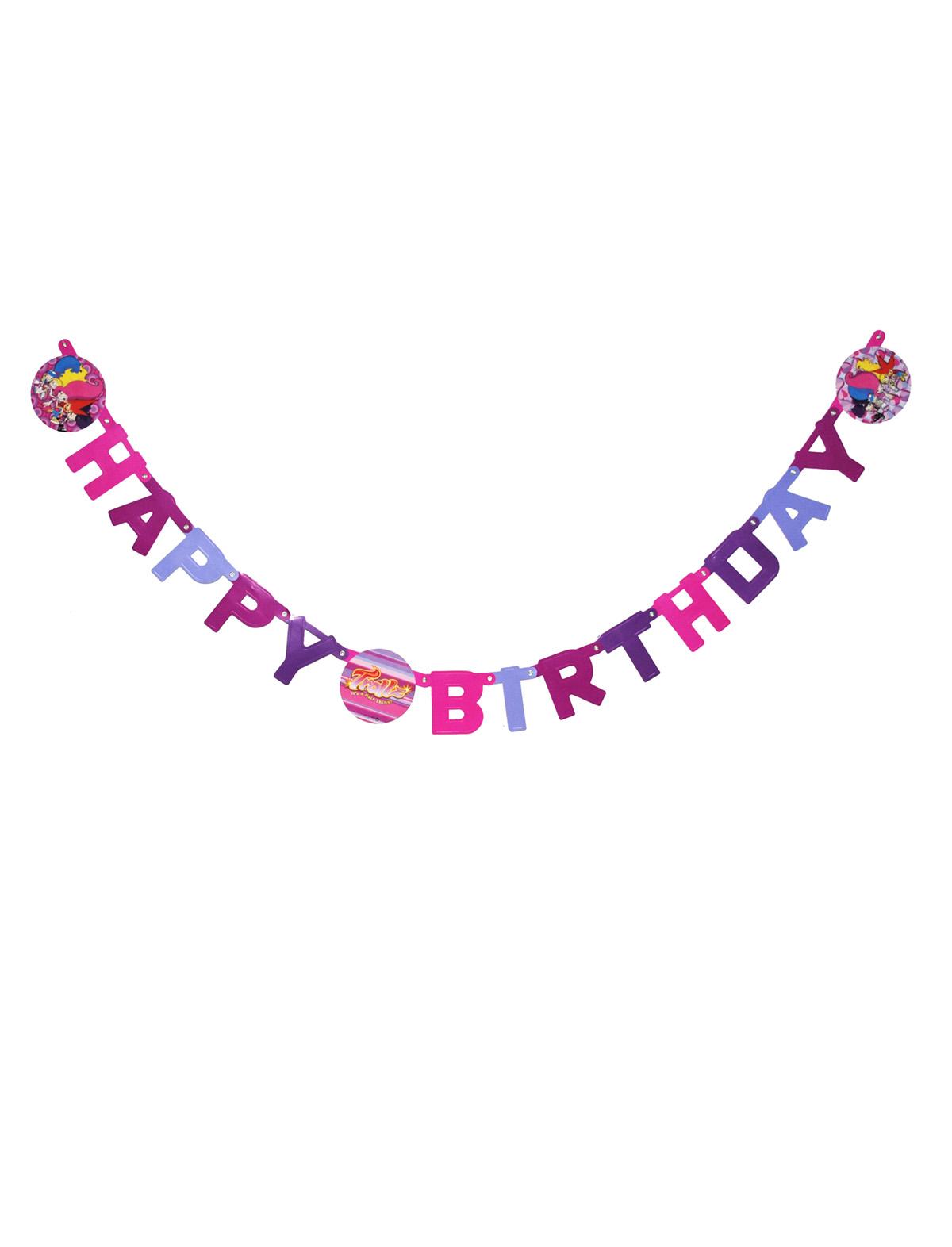 Girlande Trollz Happy Birthday