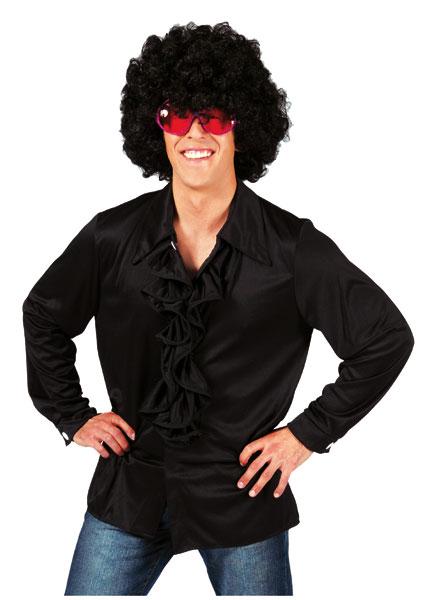 Rüschenhemd Paco schwarz