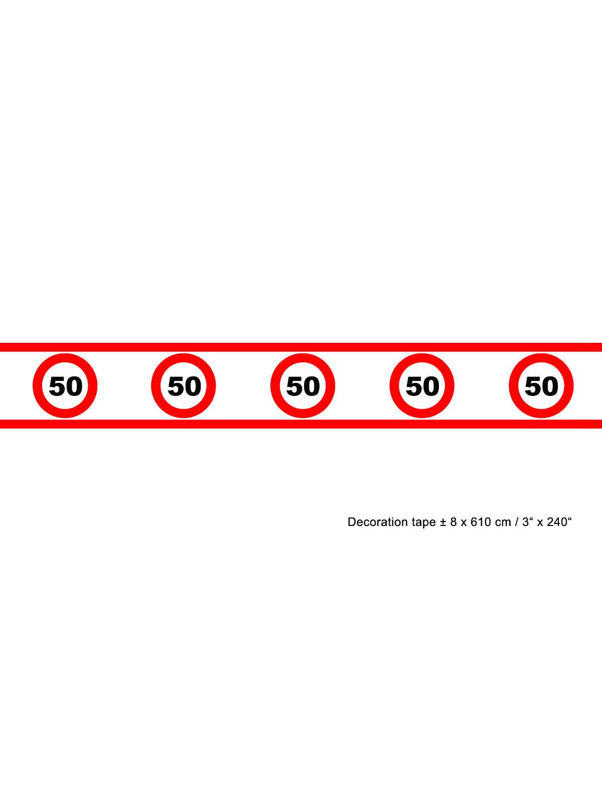 Absperrband Geburtstag 50 Jahre