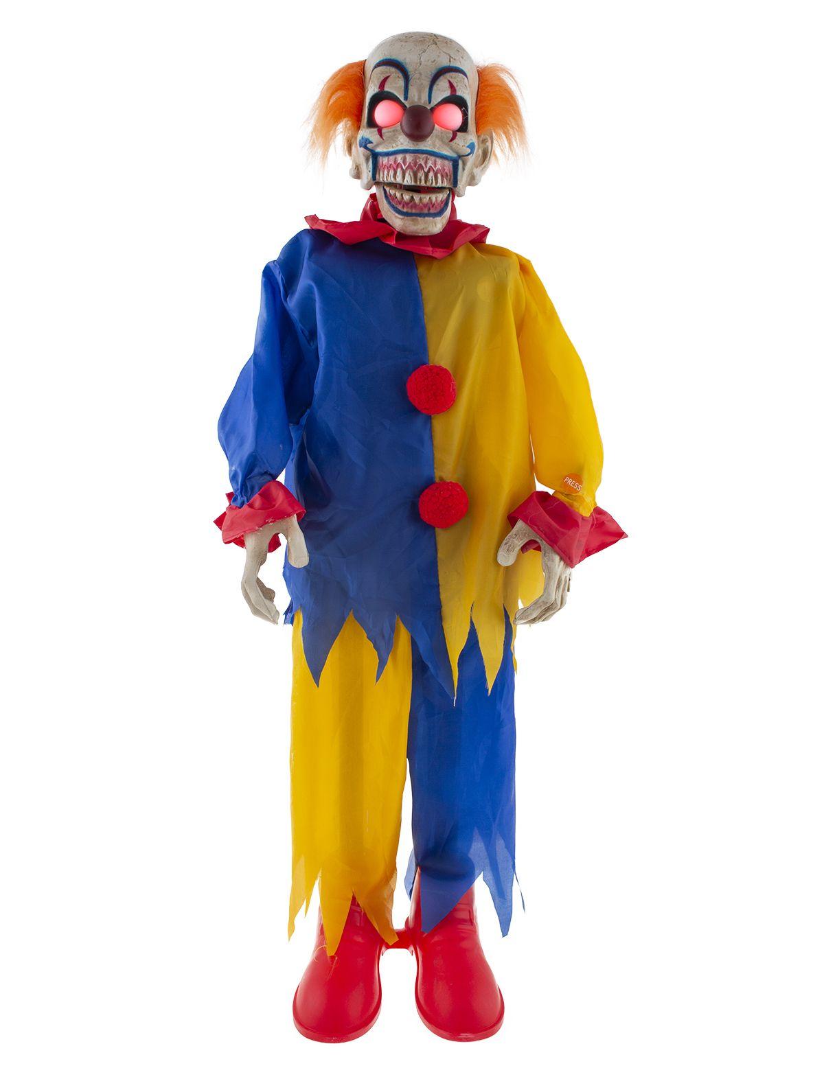 Horror Clown mit Licht, Sound und Bewegung 90cm