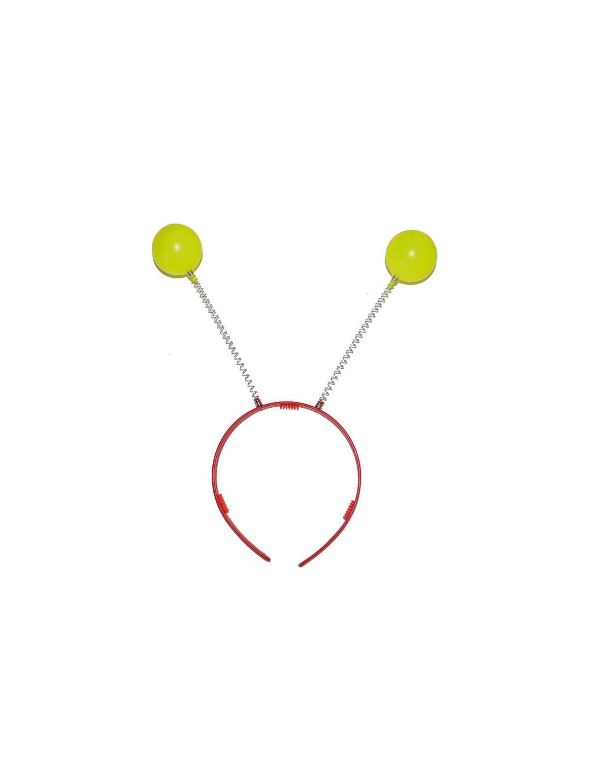 Haarreif Wackelbälle rot-gelb