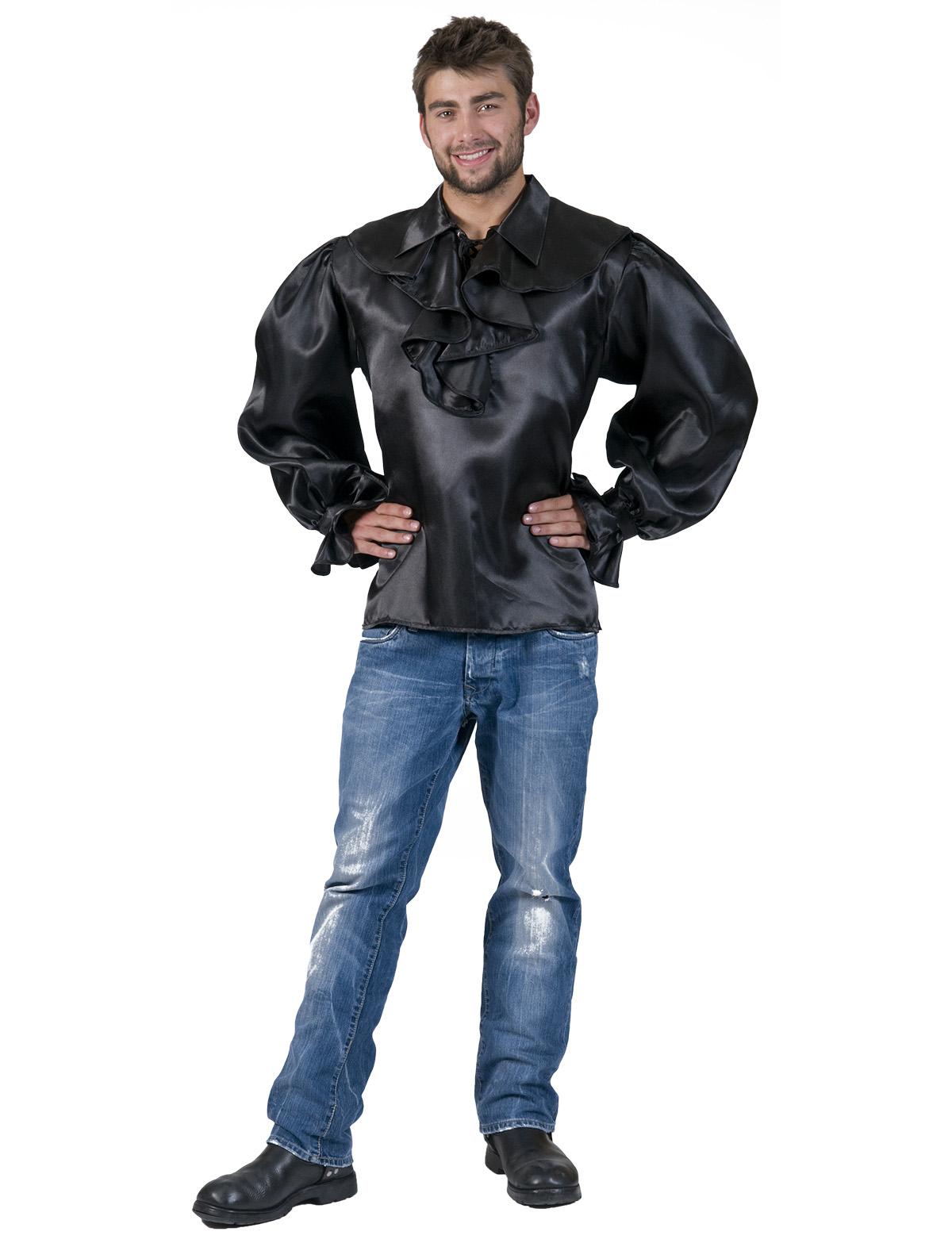 Rüschenhemd Dorian schwarz