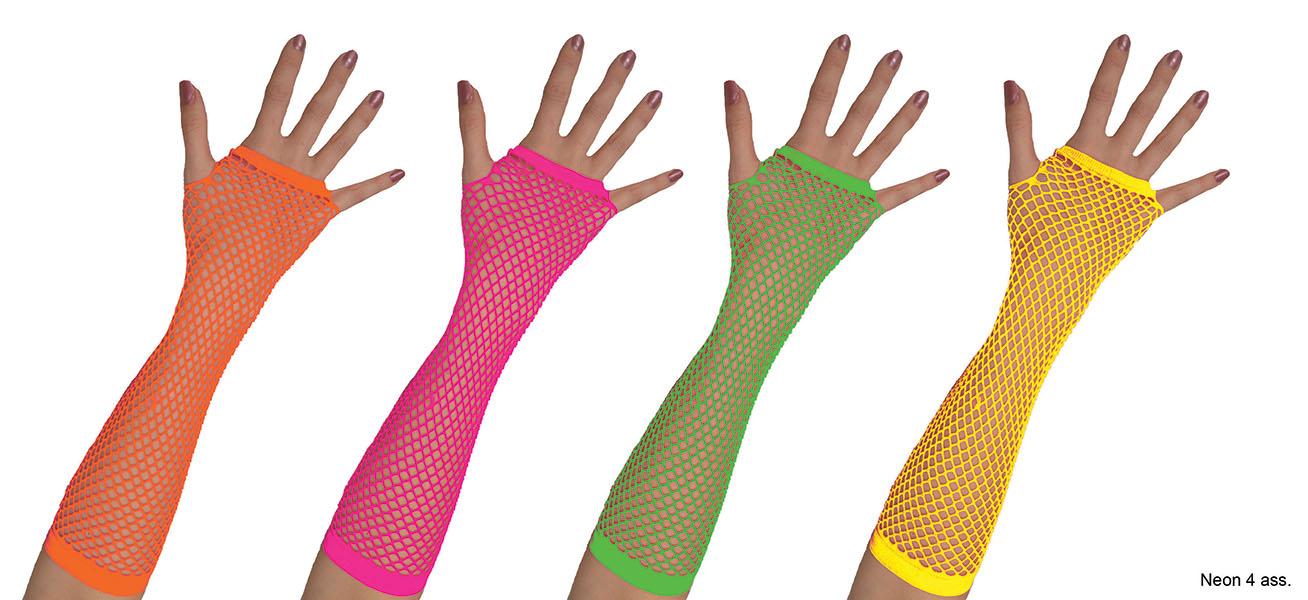 Netzhandschuhe Lisa Neon neongrün