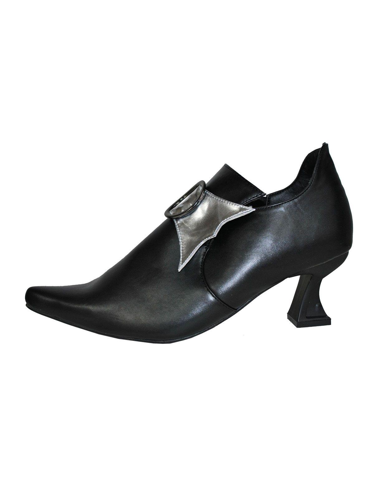 Stiefelette schwarz-silber