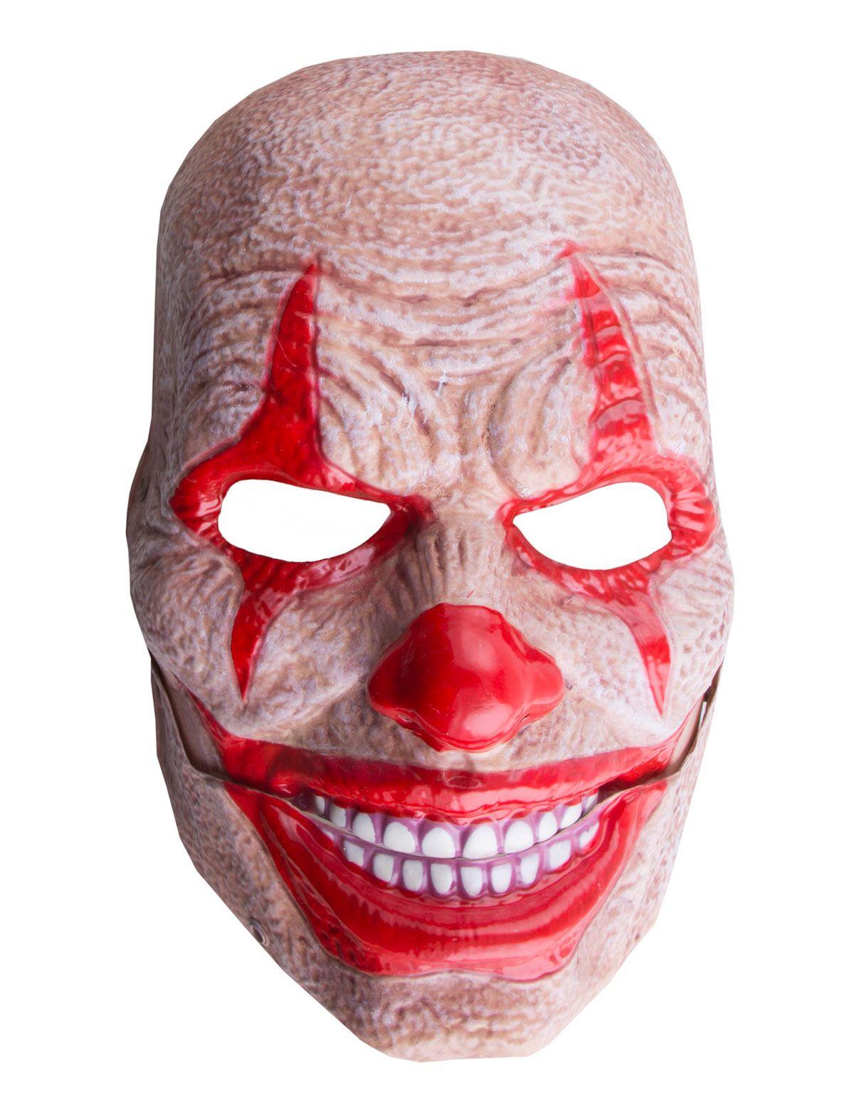 Maske Clown mit beweglichem Mund