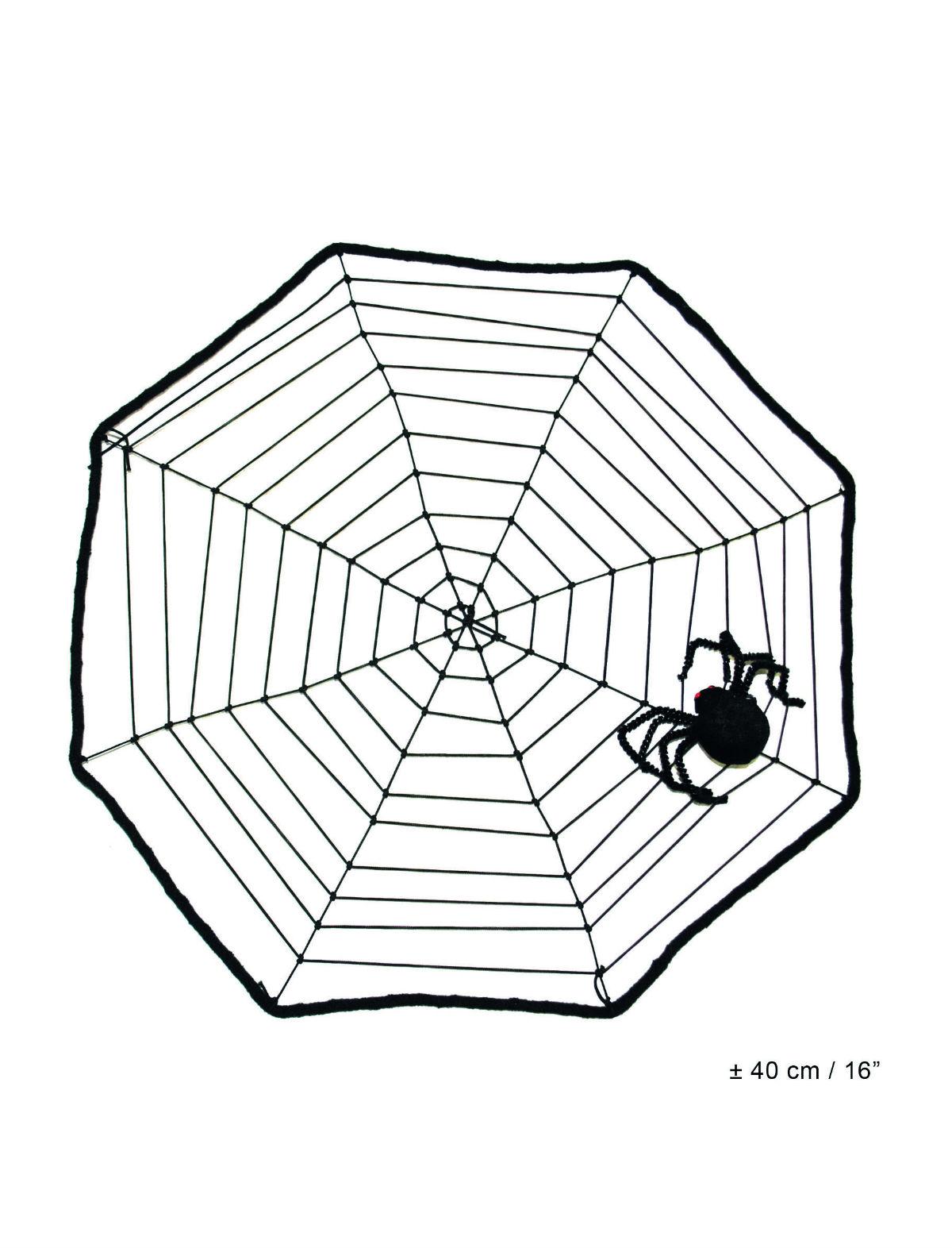 Deko Spinnennetz mit Spinne