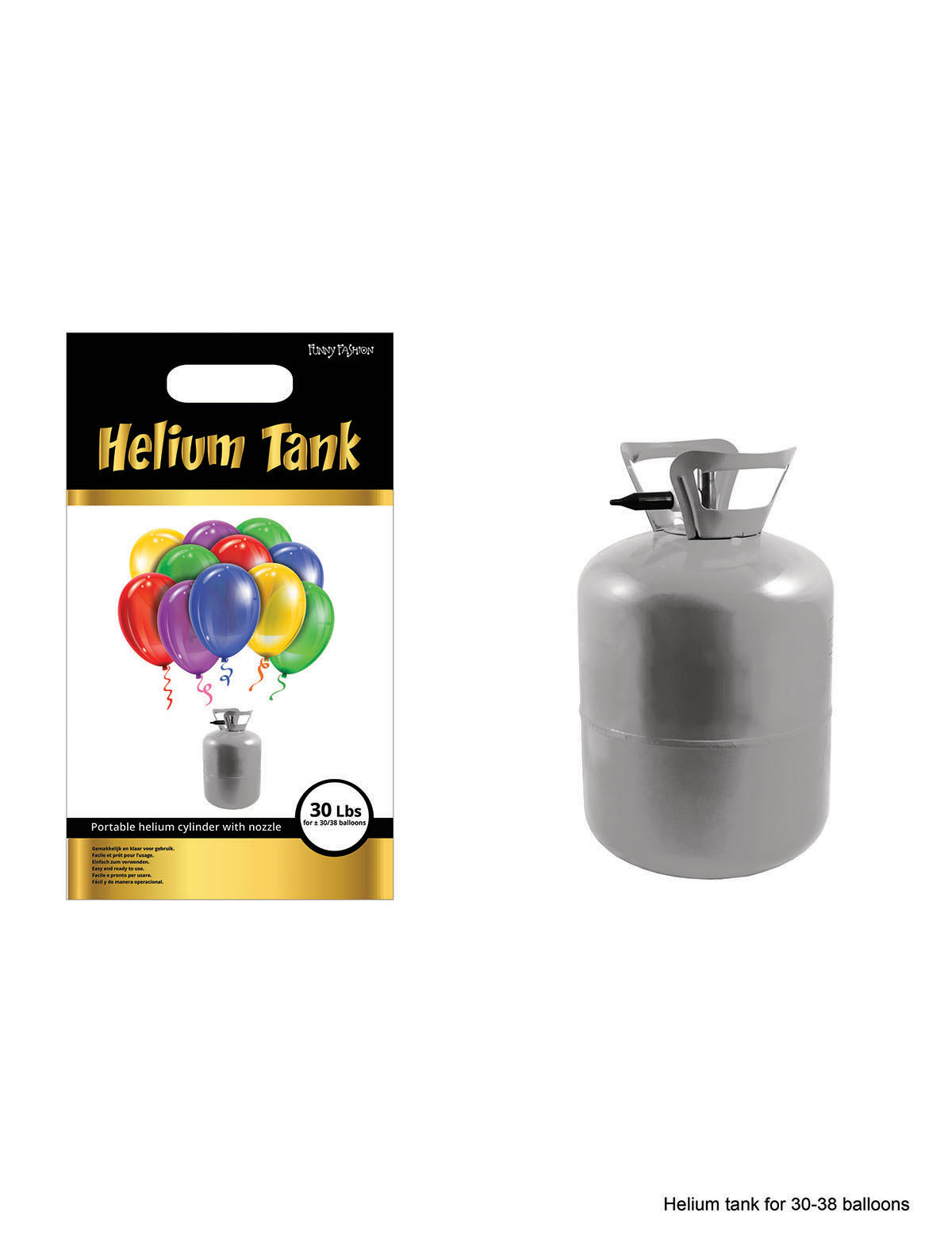 Luftballonhelium für 30 Ballons (ohne Ballons) - 13,4 L