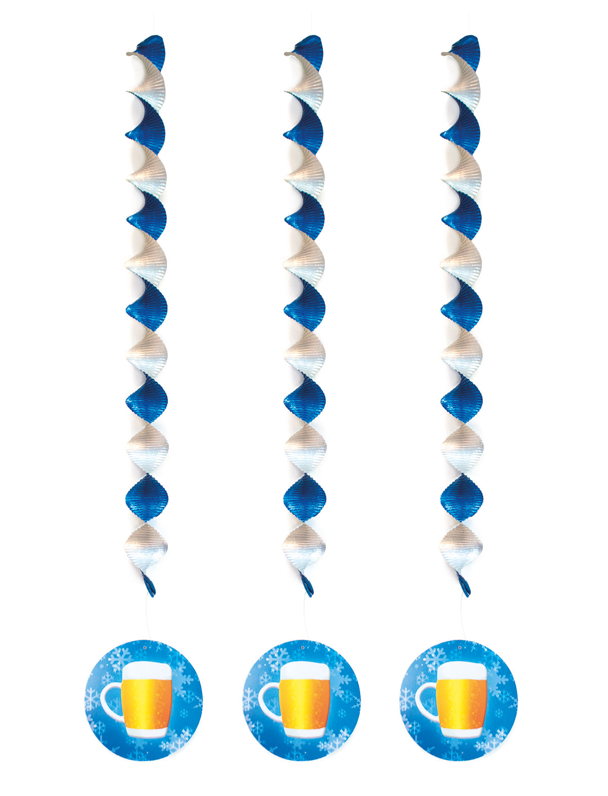 Deko-Rotor-Spiralen Bierkrug - 3er Set