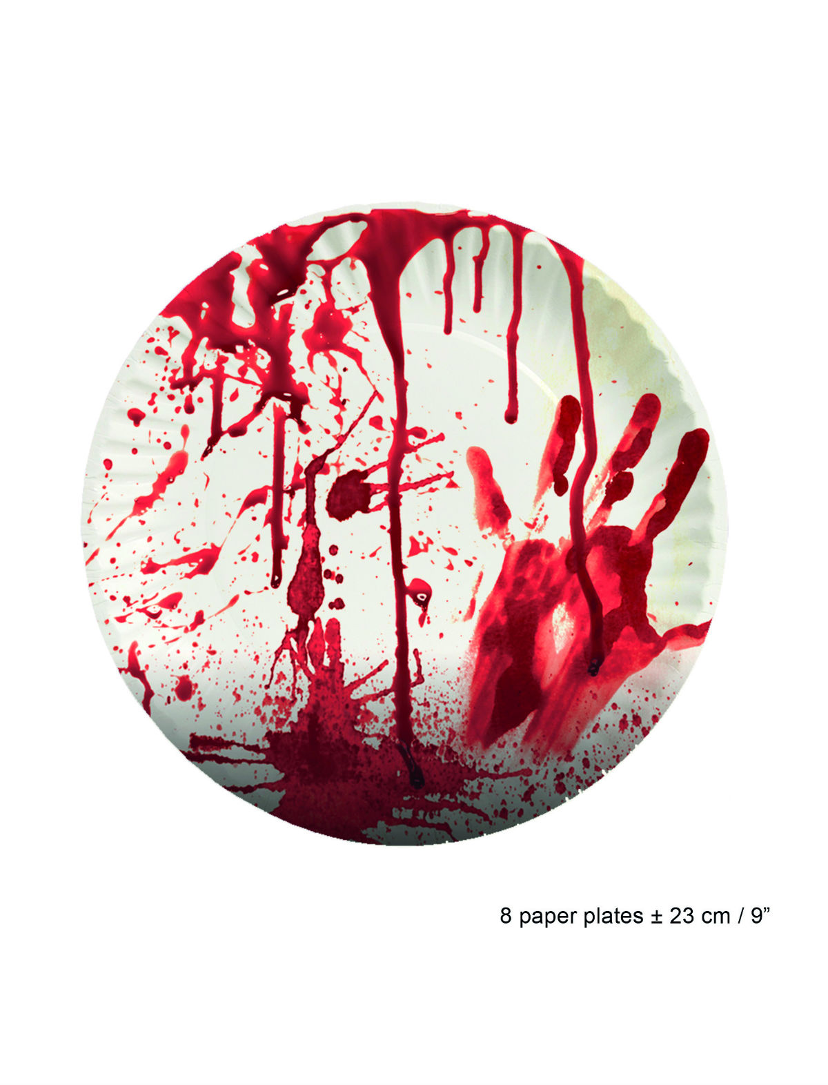 Pappteller Blut