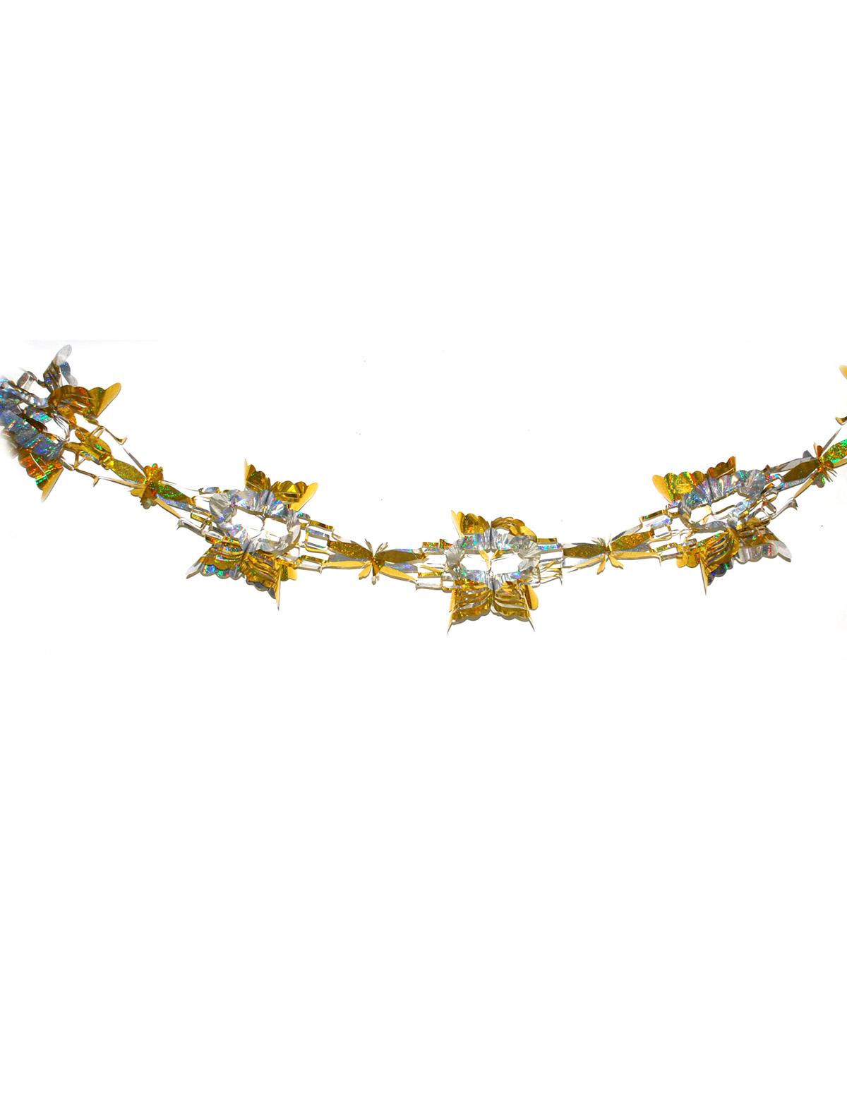 Girlande irisierend gold/silber 3m
