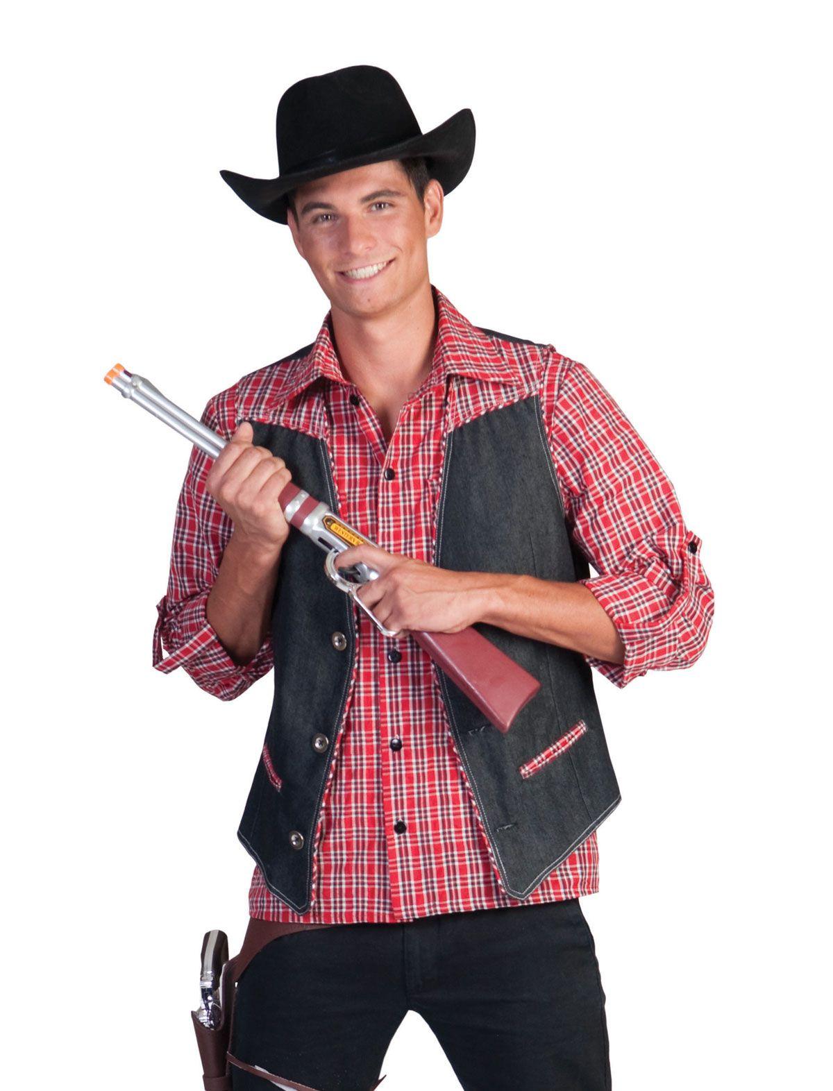 Cowboyweste Denim Ranger Herren