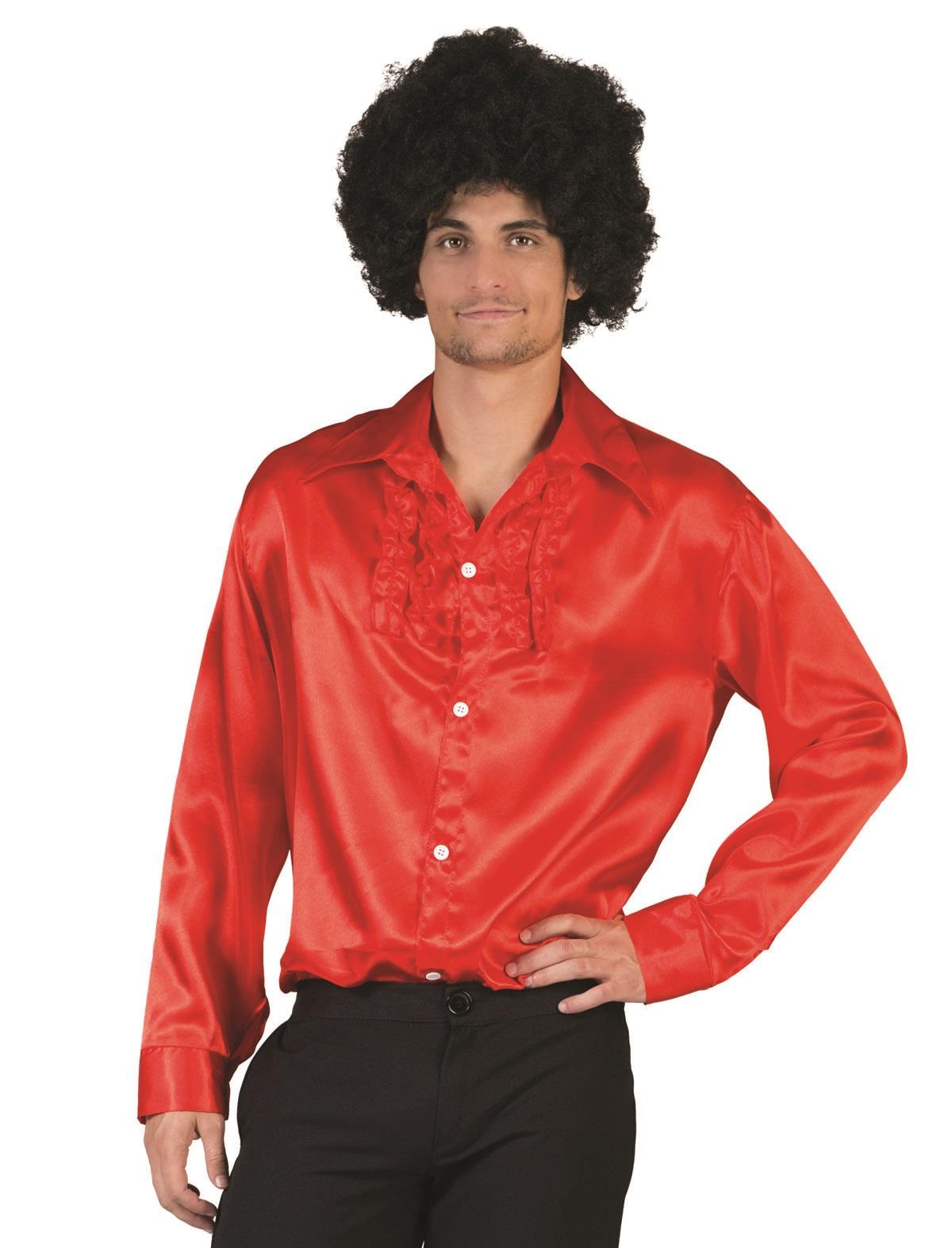 Rüschenhemd Illja rot