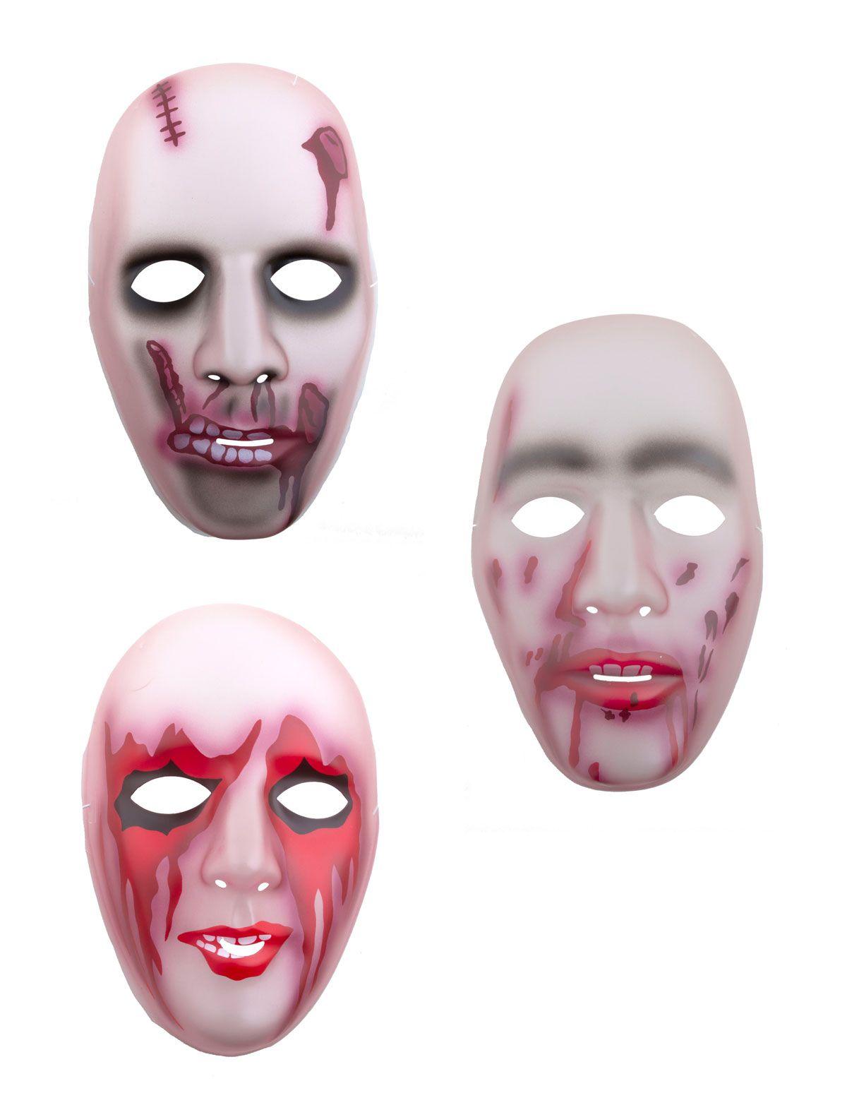 Maske Zombie Narbe