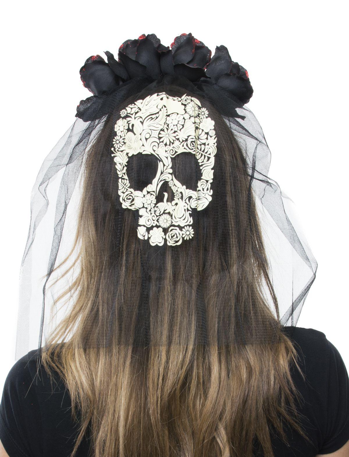 Haarreif mit schwarzen Rosen