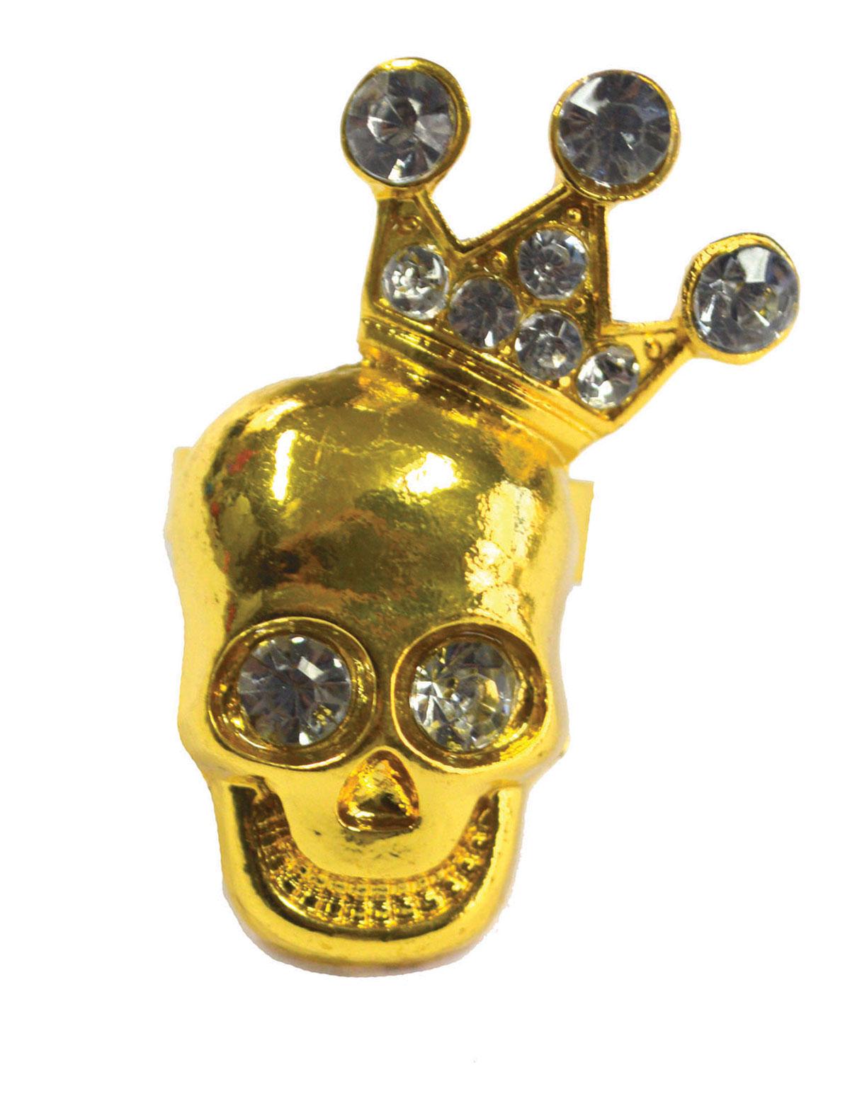 Ring Totenkopf mit Krone