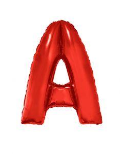 Folienballon 102 cm - Buchstaben rot A-Z Buchstabe A