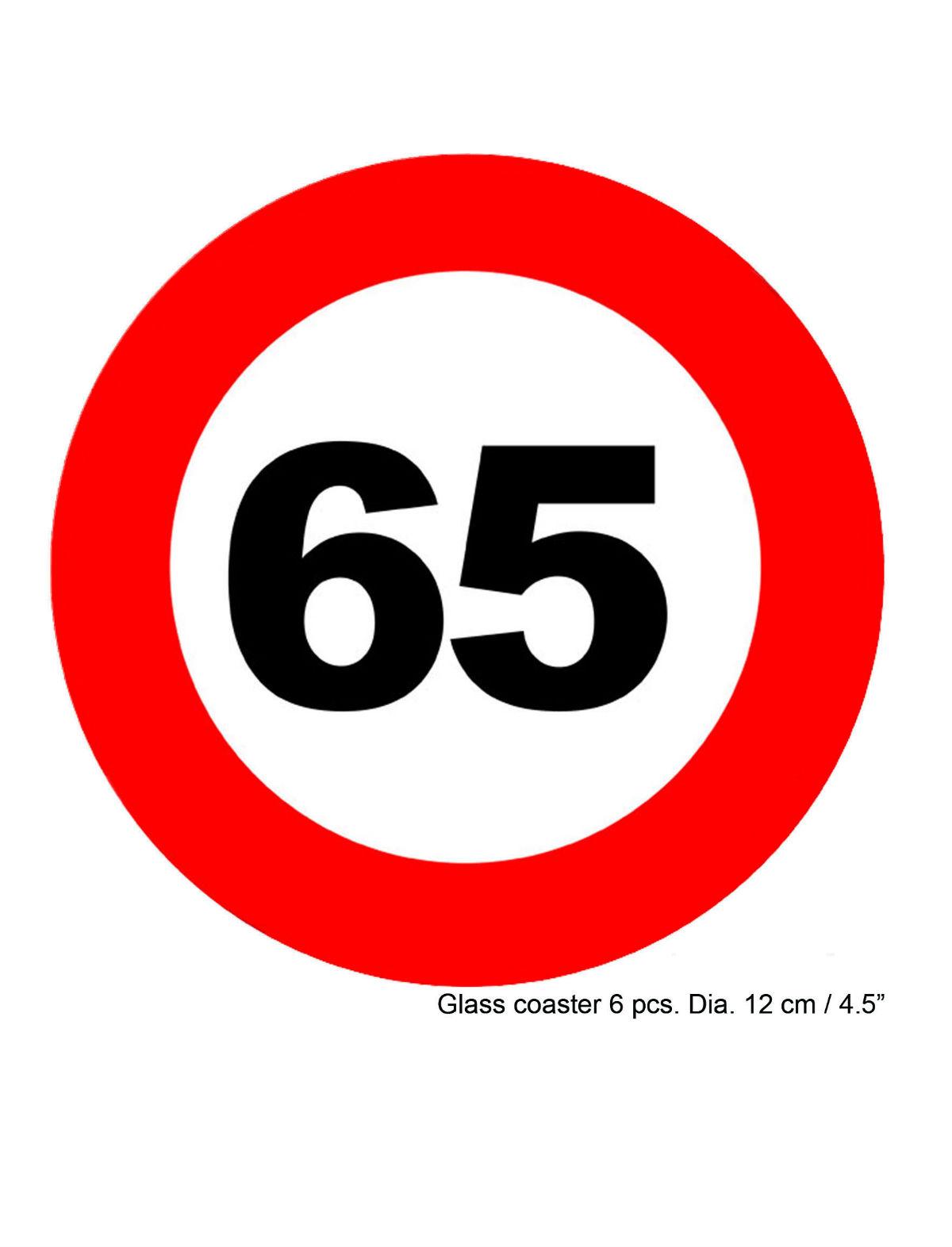 Glasuntersetzer Geburtstag 65 Jahre