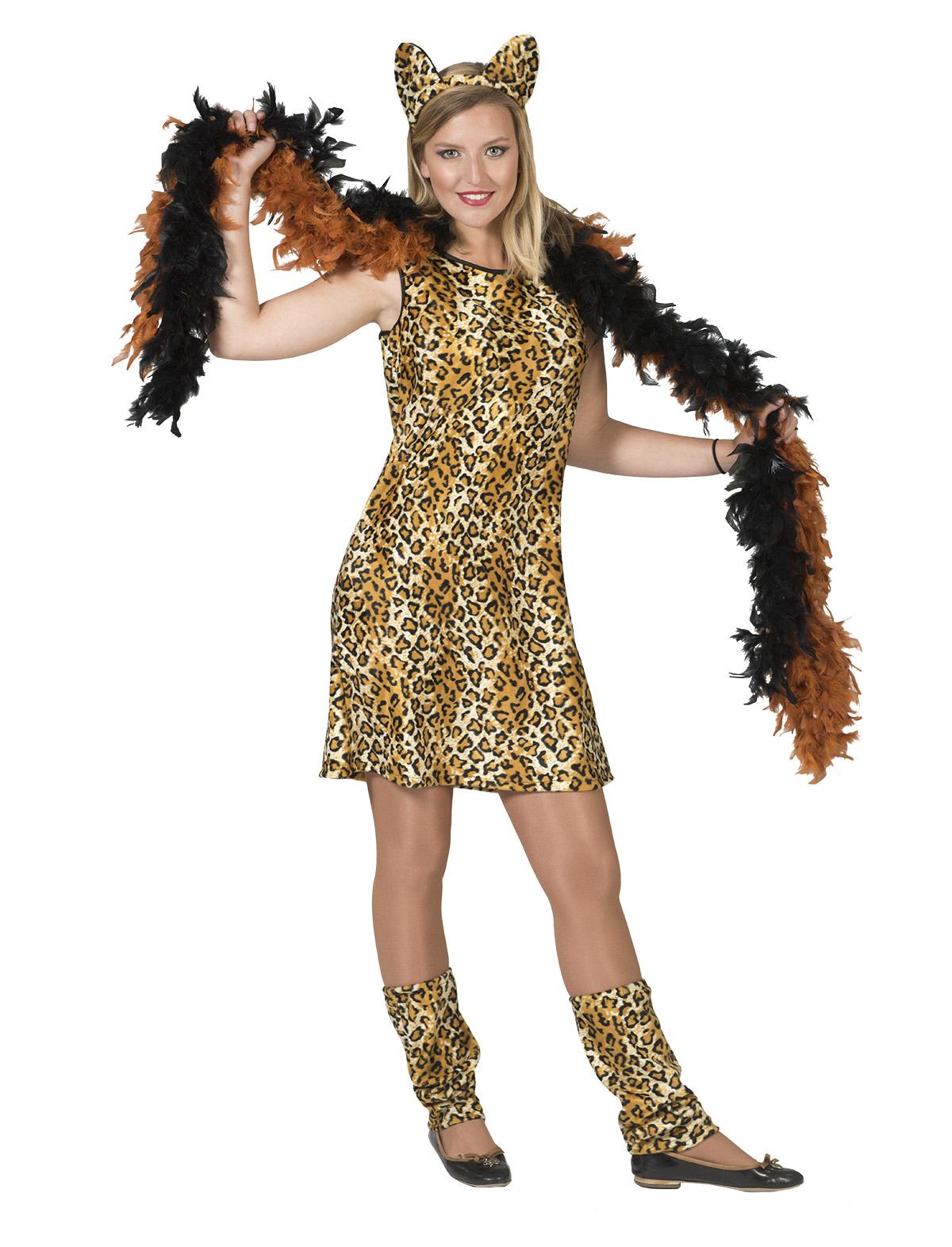 Kleid Leopard Bikira