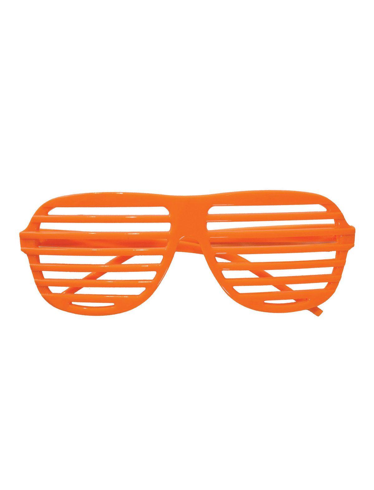 Brille Neon-Lamellen neonorange