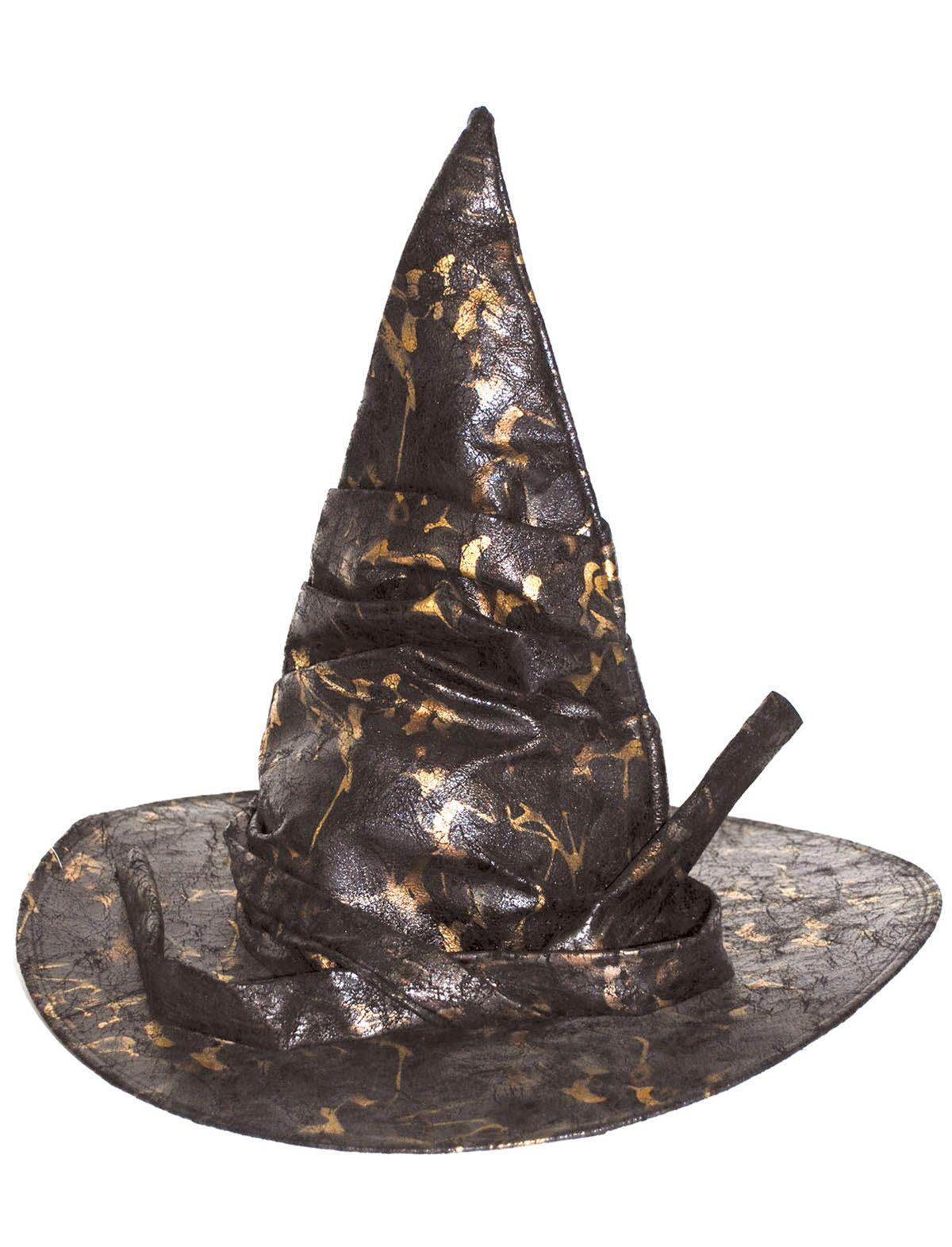 Hexenhut schwarz-braun