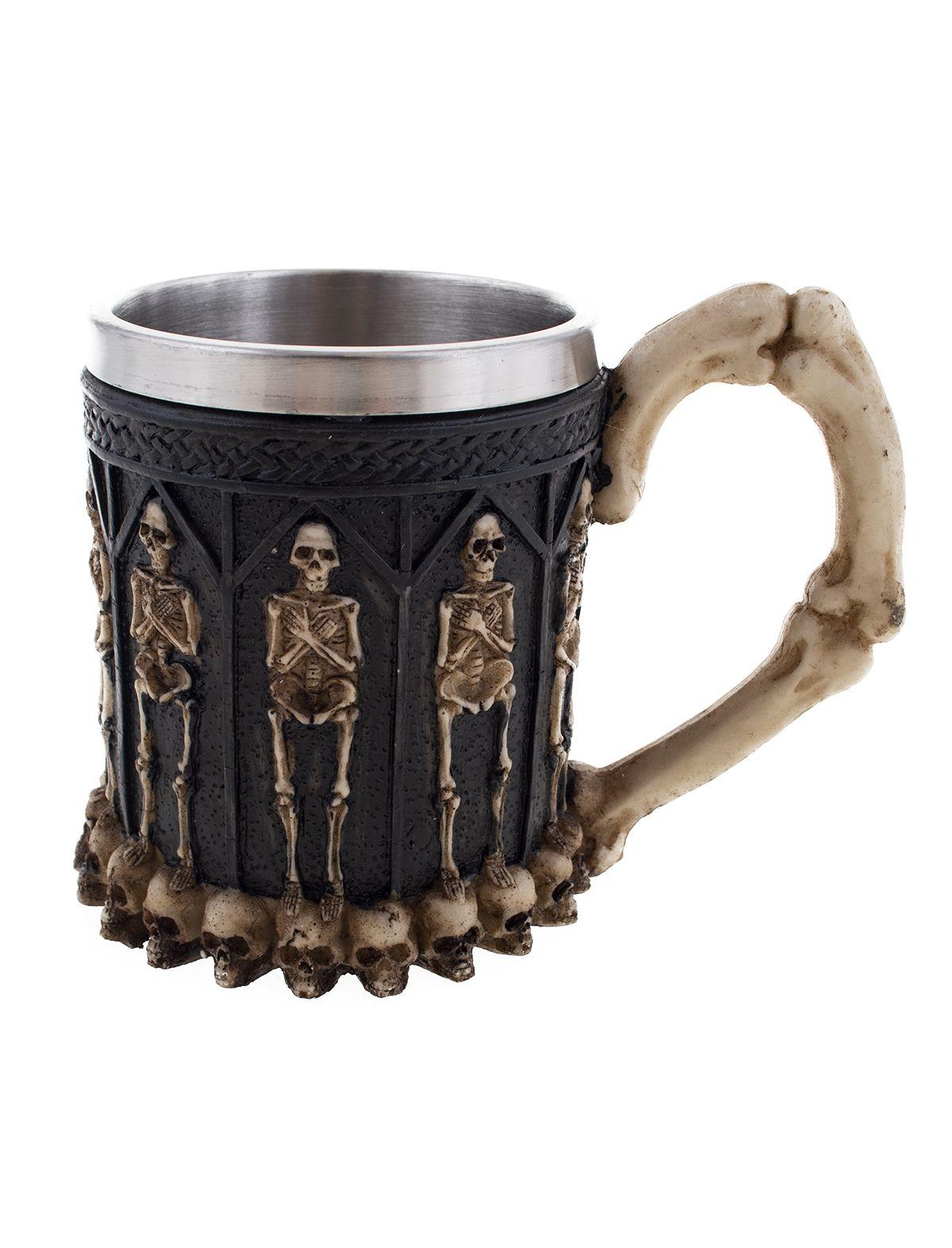 Halloween Becher Skelett