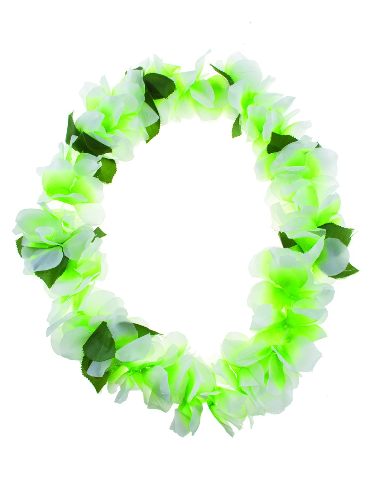Hawaii Kette grün-weiß