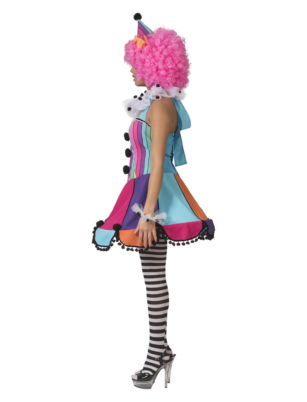 Kleid Clown Rainbow