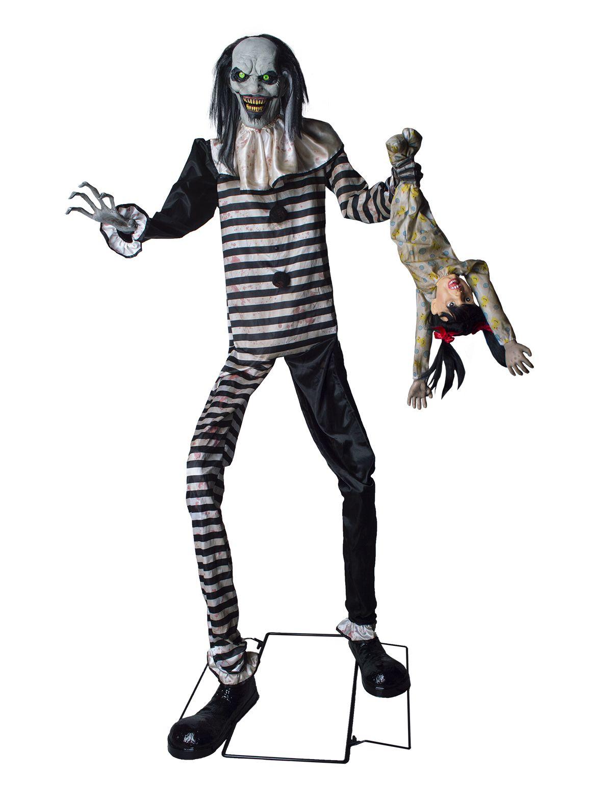 Clown des Grauens 240cm mit Licht, Sound und Bewegung