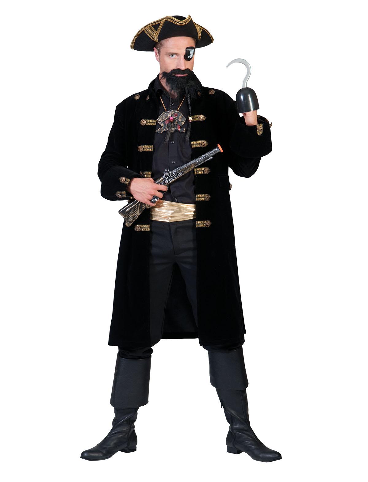 Jacke Pirat schwarz-gold