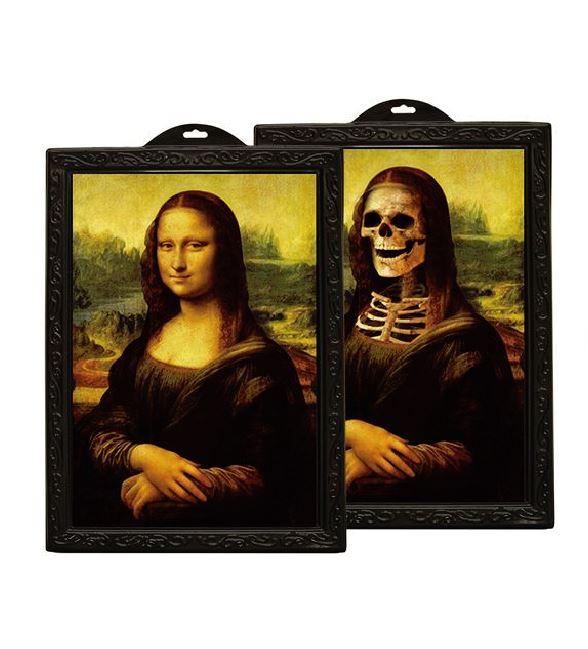 Fotorahmen Hologramm Mona Lisa Skelett