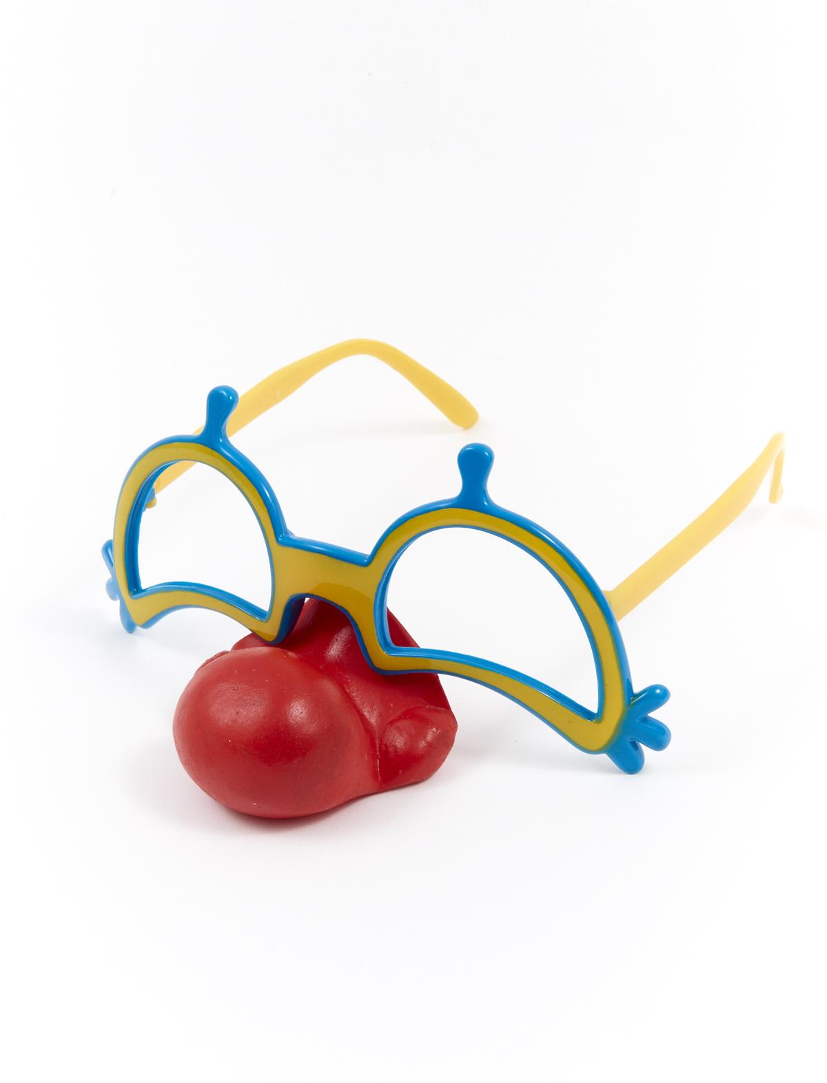 Brille Clown mit Nase