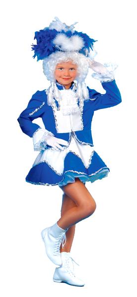 Tanzgarde Marie blau/weiß Kind