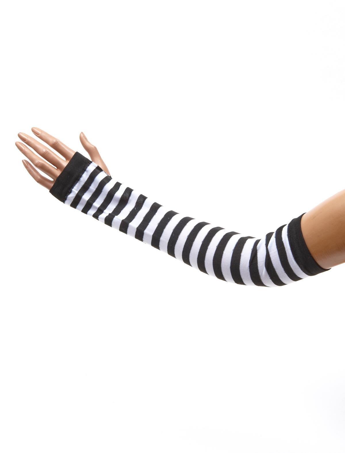 Armstulpen schwarz-weiß