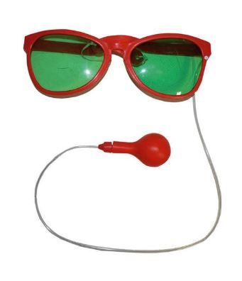 Brille Clown mit Wasserspritze rot